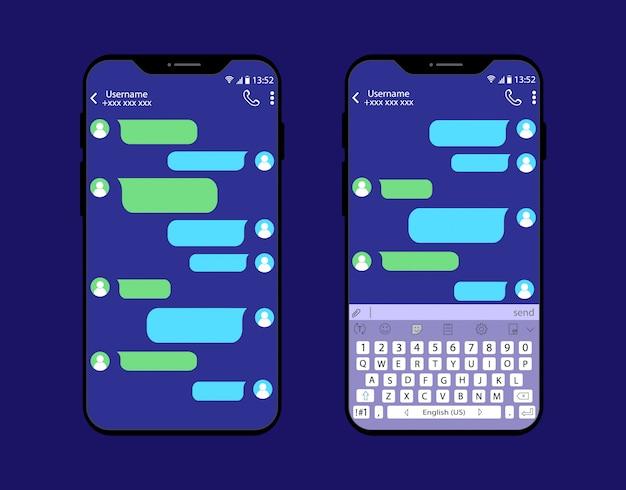 Interface de chat sur smartphone.