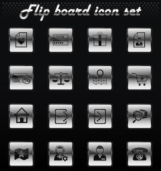 L'interface de commerce électronique retourne les icônes mécaniques pour la conception de l'interface utilisateur