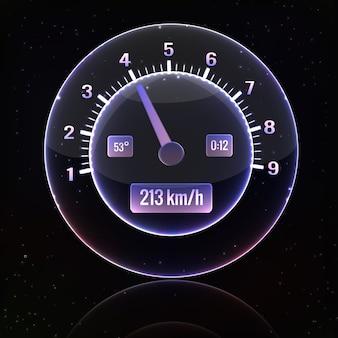 Interface du compteur de vitesse