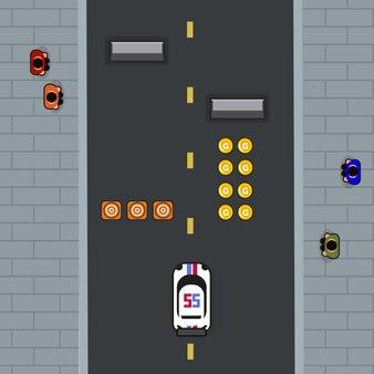 Interface avec un élément de jeu de course ou de jeu de la circulation