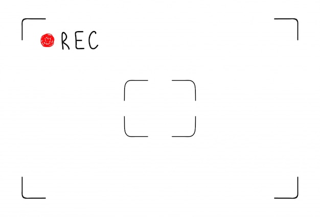 Interface d'enregistrement vidéo doodle