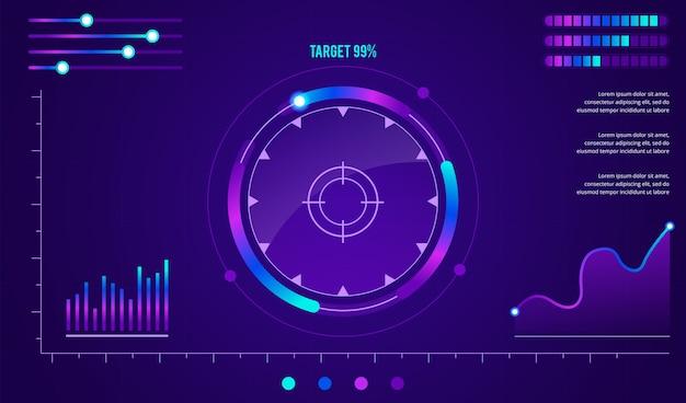 Interface futuriste de science-fiction