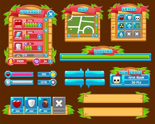 Interface graphique du jeu en bois