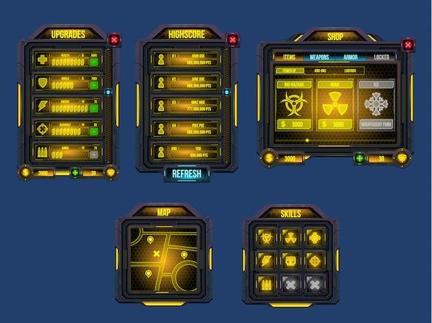 Interface graphique du jeu cyber world
