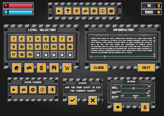 Interface graphique du jeu industriel