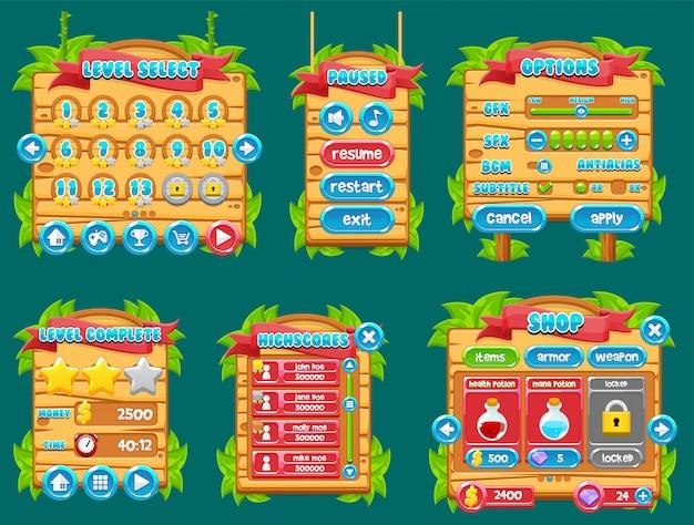 Interface graphique du jeu jungle