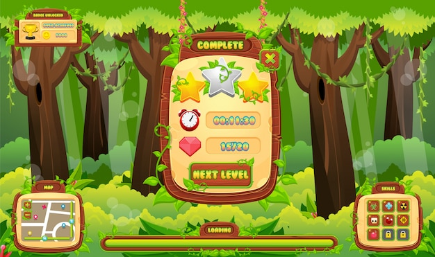Interface graphique du jeu jungle