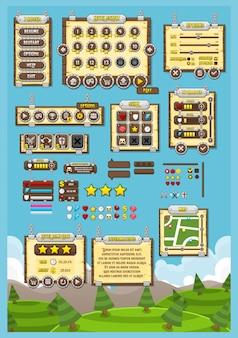 Interface graphique du jeu médiéval