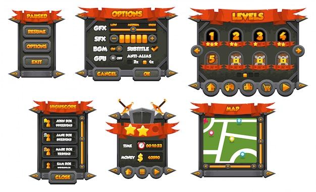 Interface graphique du jeu rpg