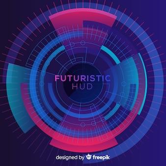 Interface hud futuriste avec style dégradé