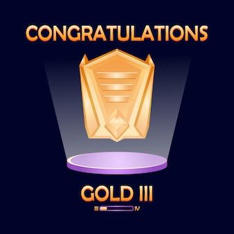 Interface d'illustration des médailles classées
