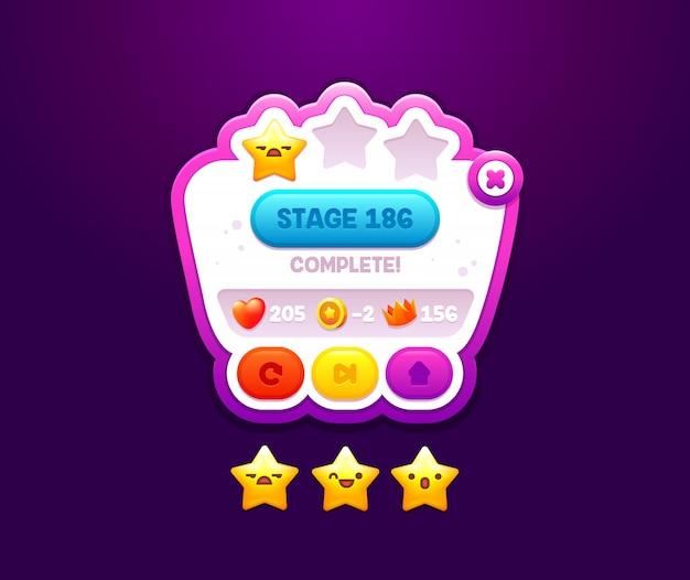 Interface de niveau utilisateur du jeu. contrôleur de jeu d'écran pour votre conception.