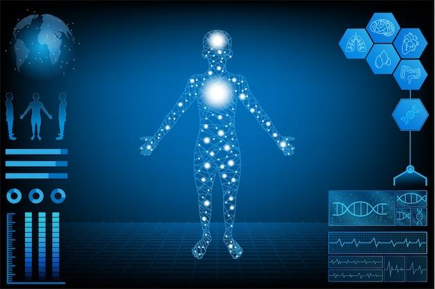 Interface numérique de santé des données humaines