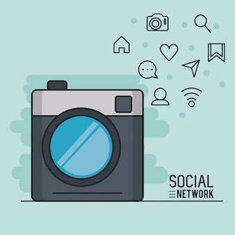 Interface de réseau social smartphone