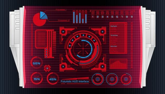 Interface de technologie futuriste éléments d'interface utilisateur hud.