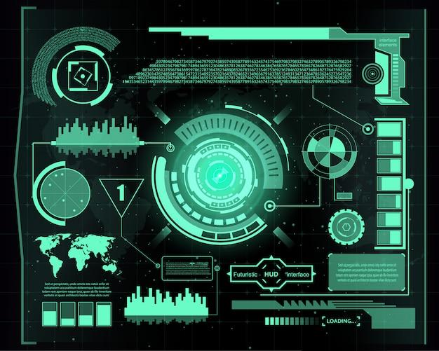 Interface de technologie futuriste fond d'interface utilisateur hud.