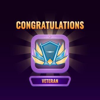L'interface utilisateur du jeu est classée dans l'interface vétéran