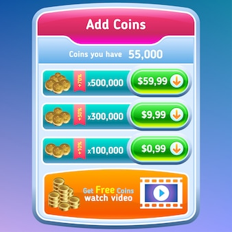 Interface utilisateur du jeu