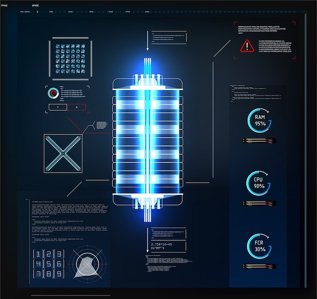 Interface utilisateur futuriste hud et éléments infographiques. graphique virtuel abstrait