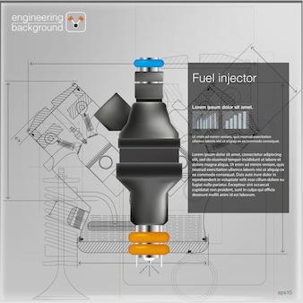 Interface utilisateur futuriste. hud ui. interface utilisateur tactile graphique virtuelle abstraite. infographie de voitures. résumé scientifique. illustration.