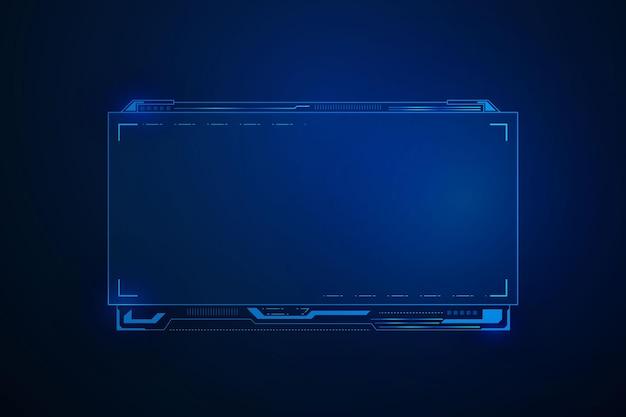 Interface utilisateur futuriste de science-fiction, conception de cadre de modèle hud, abstrait de technologie