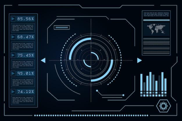 Interface utilisateur futuriste de science-fiction, hud, abstrait de technologie