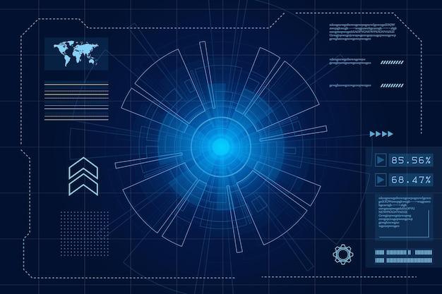 Interface utilisateur futuriste de science-fiction illustration abstraite de technologie hud