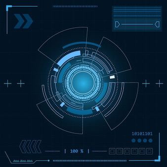 Interface utilisateur futuriste de science-fiction illustration abstraite de technologie hud