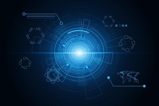 Interface utilisateur futuriste de science-fiction