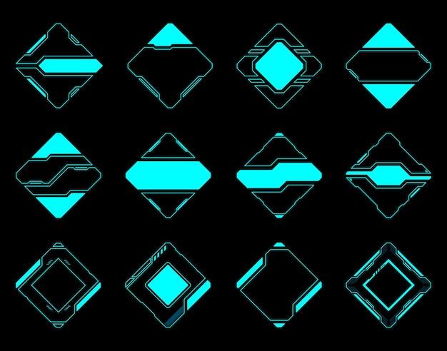 Interface utilisateur futuriste de la technologie hud de cadre abstrait