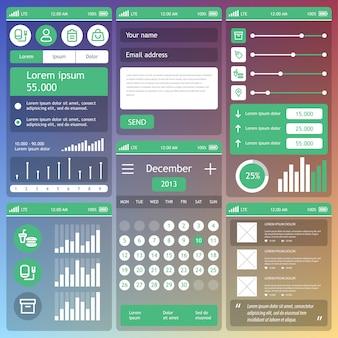 Interface utilisateur mobile. .