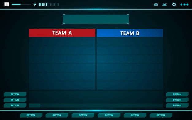 Interface utilisateur de la technologie de jeu hud conception abstraite pour les entreprises numériques