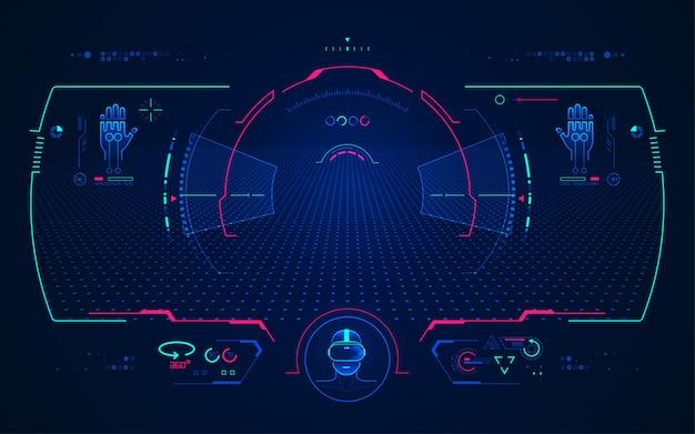 Interface de vision vr