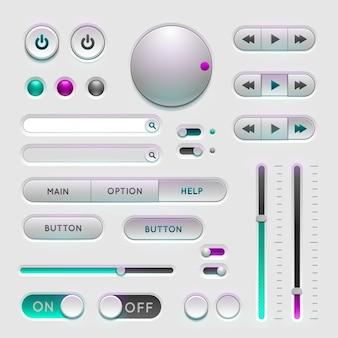Interface web éléments d'interface utilisateur
