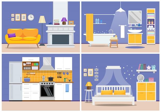 Intérieur de l'appartement moderne mignon