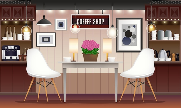 Intérieur de café bar