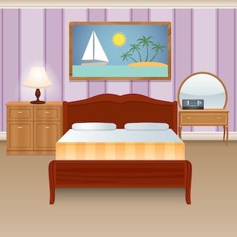 Intérieur de la chambre à coucher