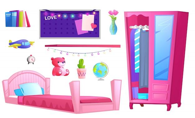 Intérieur d'une chambre de fille