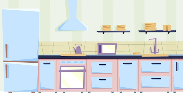 Intérieur de cuisine confortable