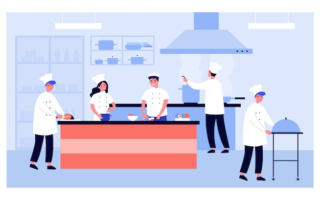 Intérieur de cuisine professionnelle