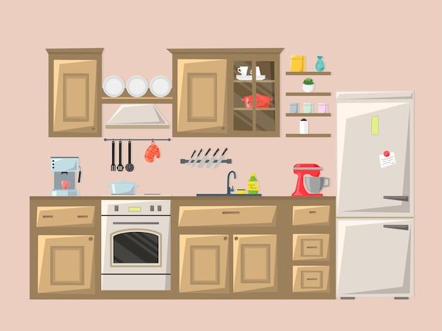 Intérieur de la cuisine.