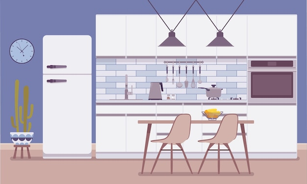 Intérieur et design de la cuisine