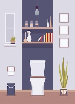 Intérieur et design des toilettes