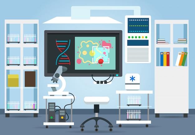 Intérieur du laboratoire de recherche biologique