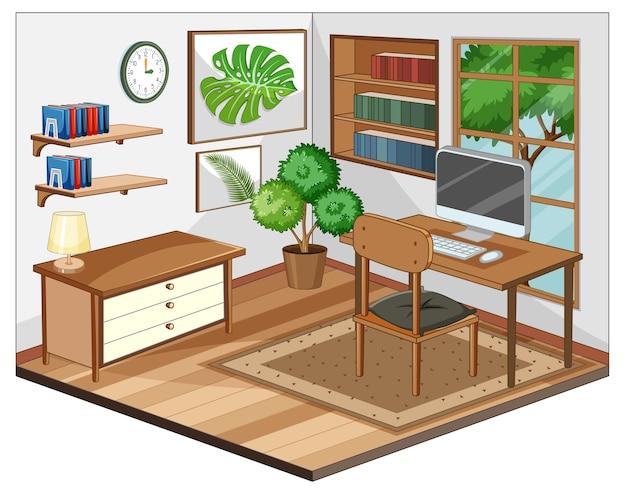 Intérieur du lieu de travail avec des meubles