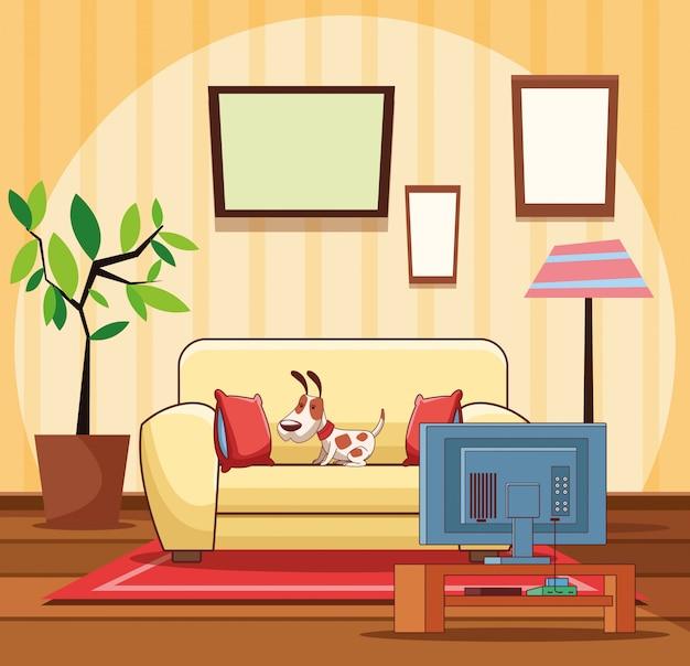 Intérieur du salon de la maison