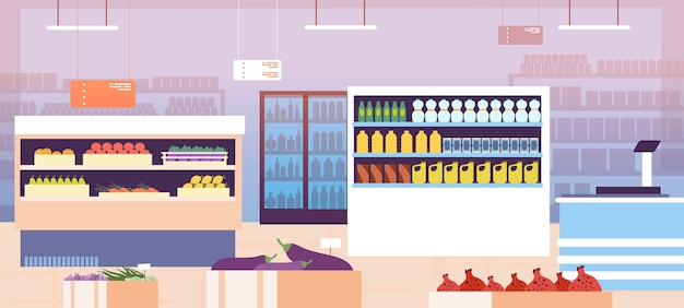 Intérieur du supermarché
