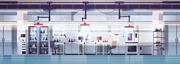 Intérieur de laboratoire moderne vide aucun laboratoire chimique de personnes