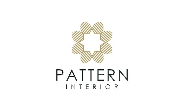 Intérieur de logo de luxe