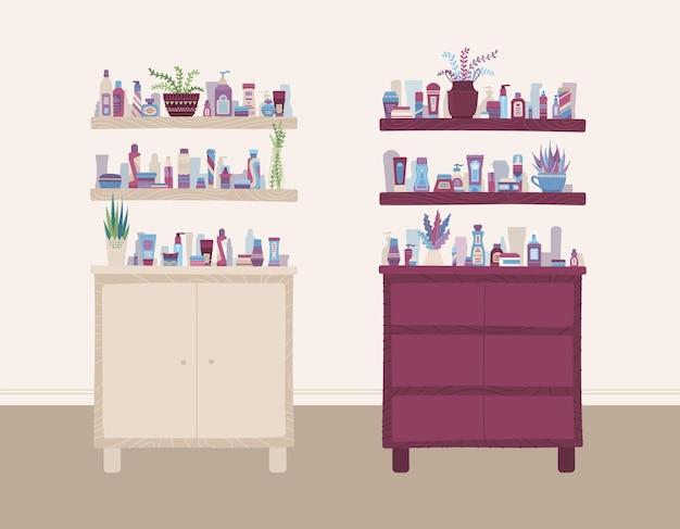 Intérieur de magasin de beauté et de santé
